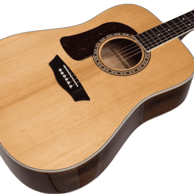 Washburn HD10SLH Heritage 10 Series Solid Spruce Mahogany 6-String Acoustic Guitar For Lefty Players
