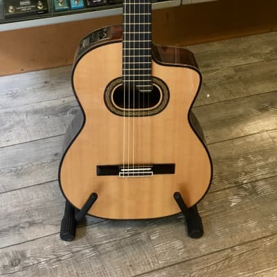 Takamine TH90 Hirade Series Classical Nylon String Acoustic/Electric Guitar Natural Gloss for sale