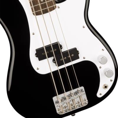 Squier by Fender Mini P Bass - Laurel Fingerboard in Various Colors - Black