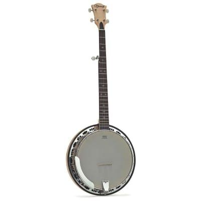 Ozark 5 String Banjo Brass Tone Ring + Cover 24 Brackets for sale