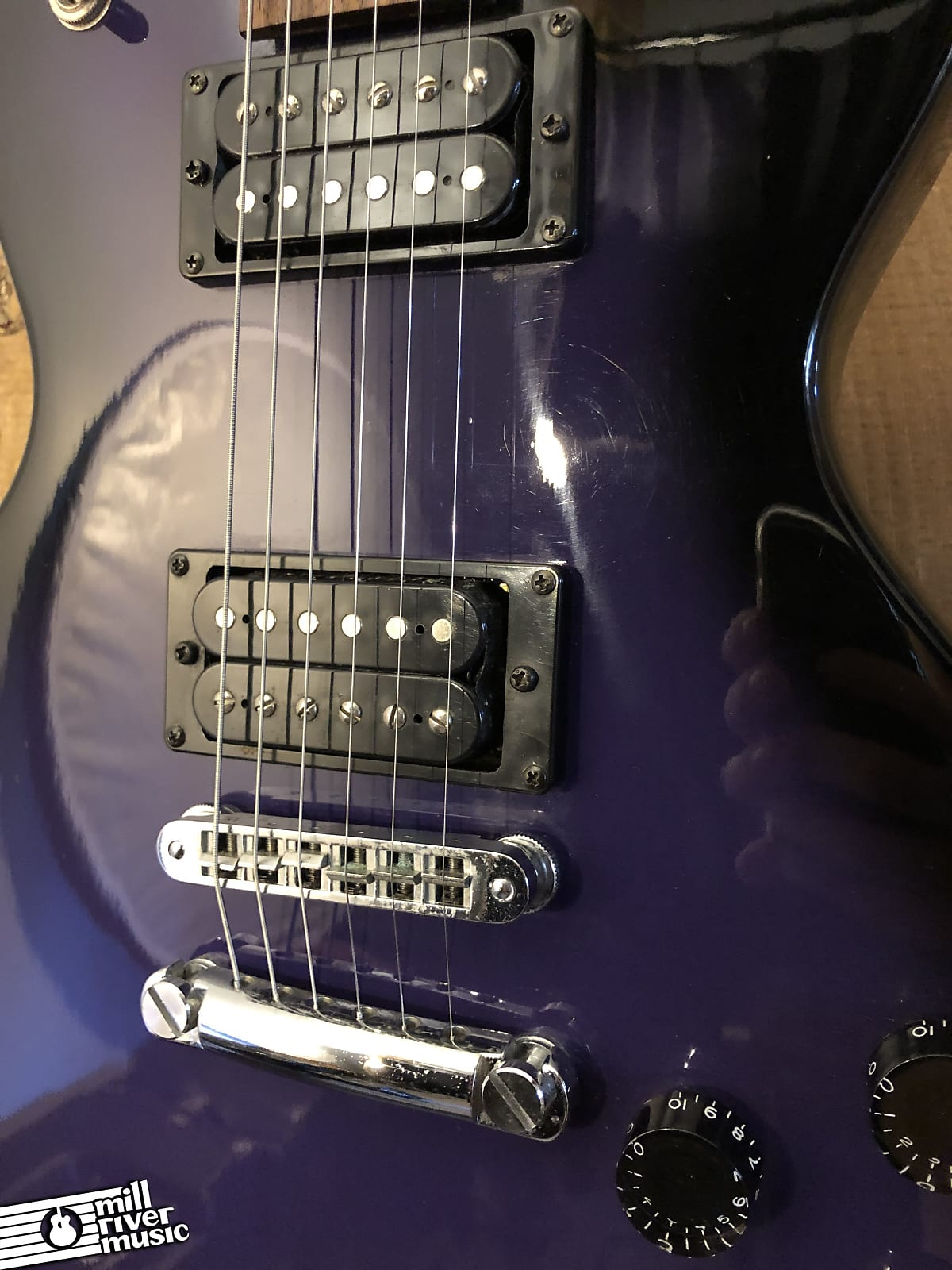 Burny Les Paul Special Junior Copy Singlecut Electric Guitar Purple Burst 1990s