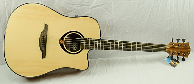 lag t80dce acoustic electric guitar w generic hard shell case reverb. Black Bedroom Furniture Sets. Home Design Ideas