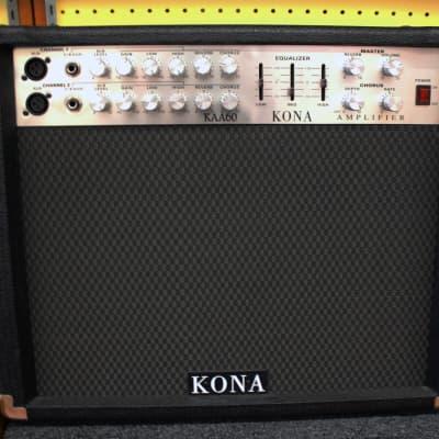 Kona KAA60 Acoustic Guitar Amplifier Black w/ 60-Watt RMS, 2-Channel for sale