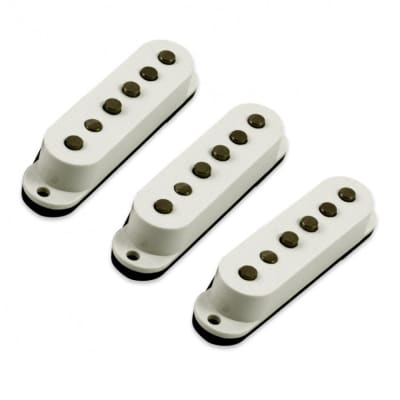 Kent Armstrong KAHW-SC61-W Tapped Single Coil Pickup Replacement Set For Fender Stratocaster for sale