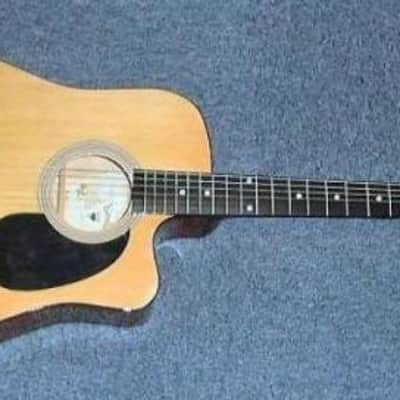 Electro-Acoustic Guitar Natural Estrella Western for sale