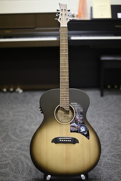 Musical Instruments & Gear Acoustic Electric Guitars Riversong Soulstice Deluxe Acoustic-electric Guitar Walnut Board Harvest Burst Buy One Give One