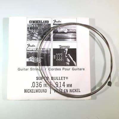 """Fender REAL Vintage 70's Super Bullet String 0.036"""" Nickel Wound"""