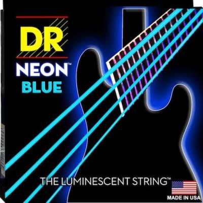 DR Strings NBB5-45 Neon Blue Medium 45-125 5-String Bass Strings
