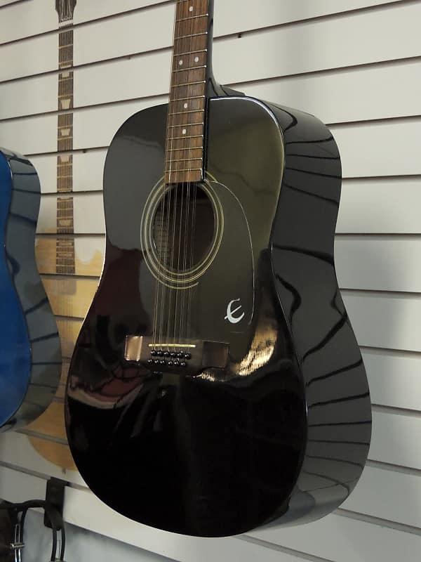 Epiphone PR-100-12/BK Acoustic Guitar 12 String   Reverb