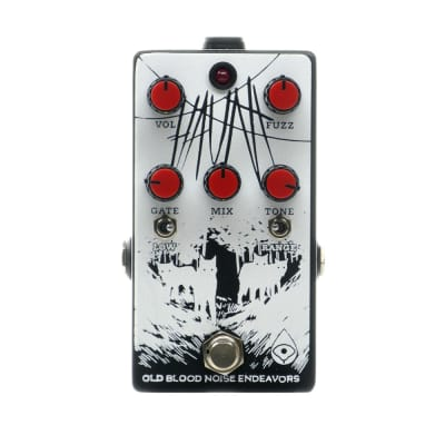 Old Blood Noise Endeavors Haunt Fuzz w/Clickless Switching, Black/White (Gear Hero Exclusive)