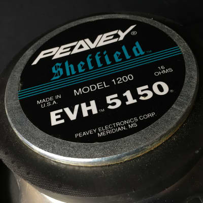 Peavey Sheffield EVH 5150 Model 1200 16 ohm Speaker - Made in U.S.A. image