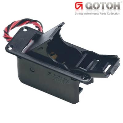 GOTOH BB-04 9 Volt Battery Compartment Box for Guitar & Bass - Top Mount - BLACK