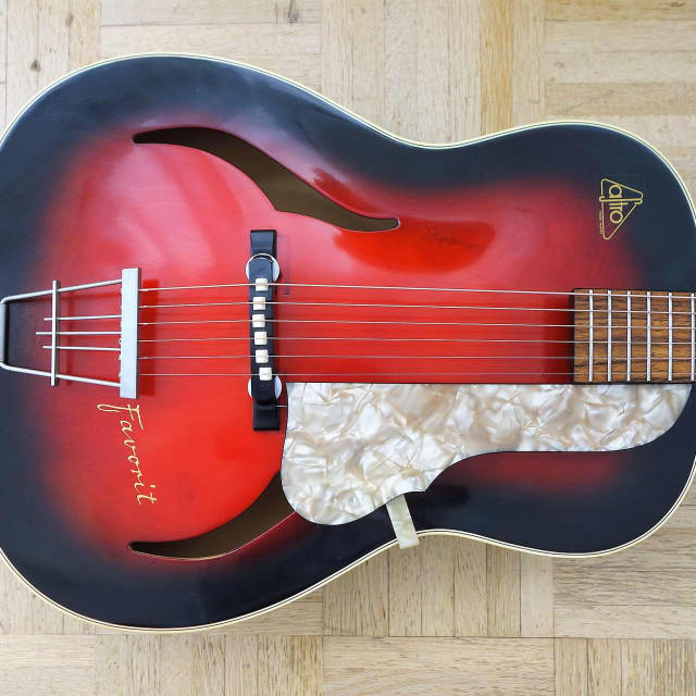 """ASTRO (Strohmer) """"Favorit"""" small archtop 1950s made in Germany image"""
