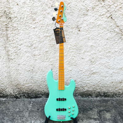 Markbass MB GV 4 Gloxy Val Surf Green 4-String Electric Bass w/ Soft Bag for sale