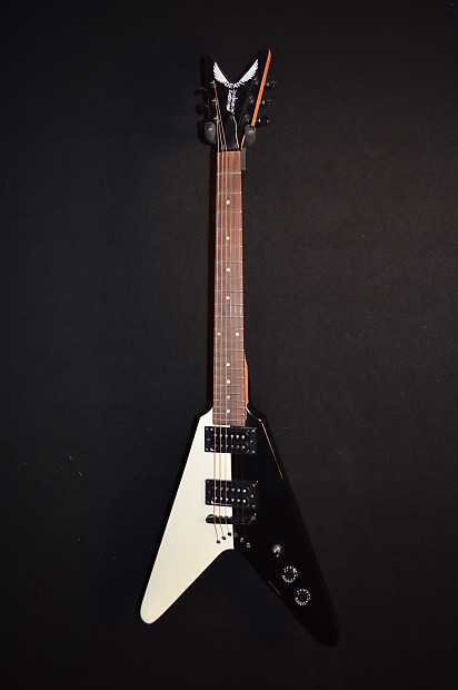 Dean Michael Schenker Baby V Black and White 3/4 Size Electric Guitar -  Free Shipping!