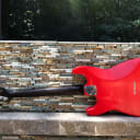 Mario Martin S  Madagascar Neck w/ roasted AAAA Flame Maple board KILLER one of a kind Relic Strat