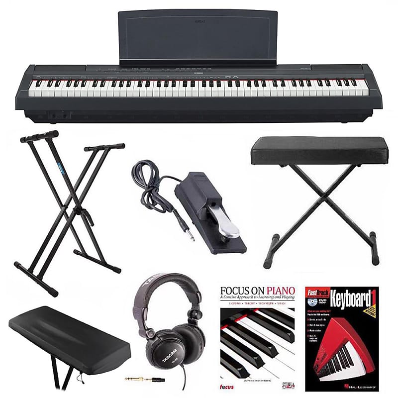 Yamaha P125 Digital Piano With Knox Stand Bench Pedal