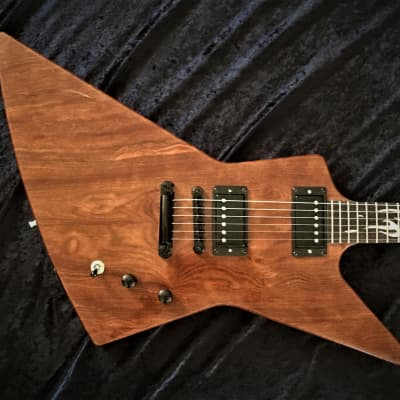 $250 off today! X-style Custom Hand Crafted Guitar Used (KL inspired) by:Black Diamond Nat/ Chechen / Mahogany for sale