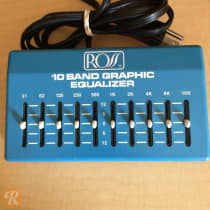 Ross 10 Band Graphic Equalizer 1980s Blue image
