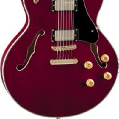 Luna ATH 501 RED Athena Semi-Hollow Guitar for sale