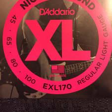 D'Addario D'Addario EXL170 Nickel Wound Light Bass Strings 45-100