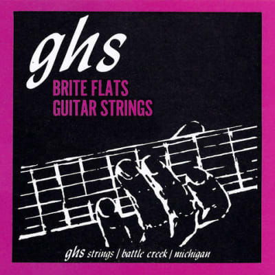 GHS 710 Brite Flates Ground Roundwound Electric Guitar Strings - Light 10-46 for sale
