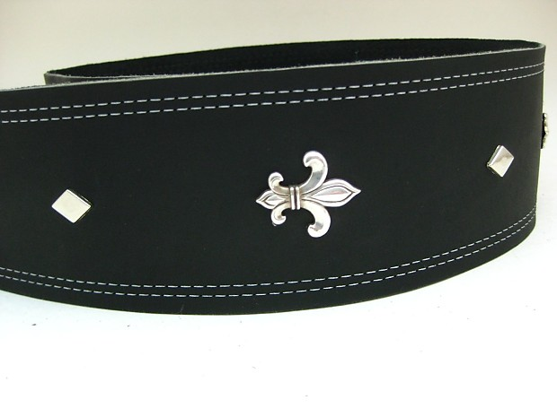 0f61626fe85f Tricked Out Leather Leather Guitar Strap Fleur de Lis 2014