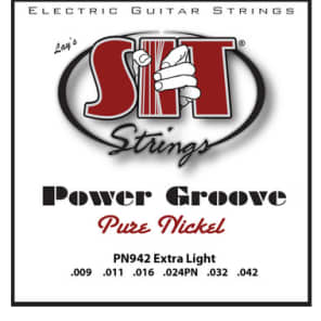 SIT Power Groove Electric Guitar Strings - Extra Light for sale