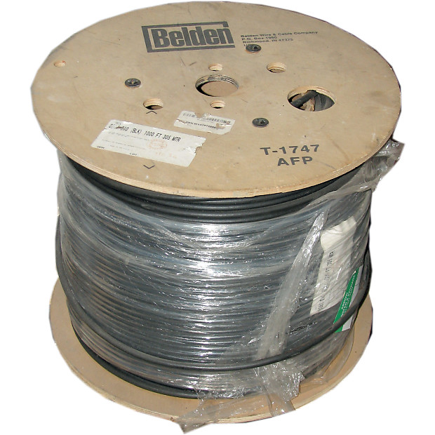 Belden WV 8281 1000-BK Black RG59 Coaxial Cable - 1000 Foot Spool - B-Stock