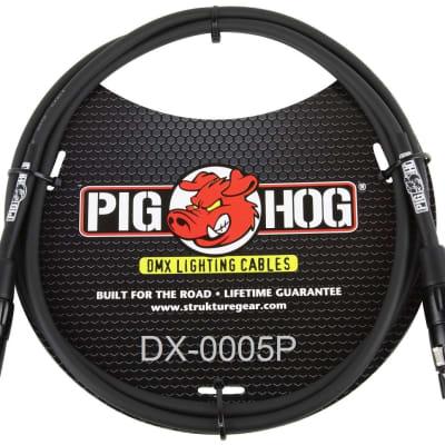 Pig Hog - PHDMX5 - XLR M/F DMX Shielded Stage Lighting Cable - 5 ft.