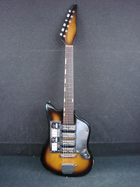 Vintage Teisco Ss4l Electric Guitar W 4 Original Goildfoil Reverb