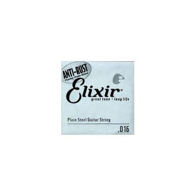 Elixir Nanoweb Electric Plain Single String 016