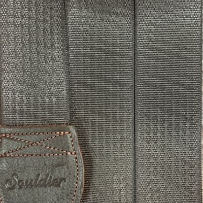 Souldier Brown Plain Seat Belt Guitar Strap