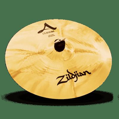 "Zildjian A Custom Crash Brilliant Cymbal 16""/40cm Fast Same Day Shipping Included!"
