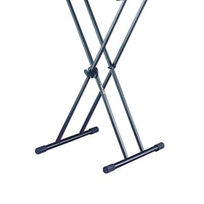 Quik-Lok USA Keyboard Stand Single-Tier  X Stand Double-Brace