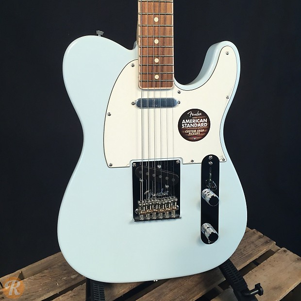 Fender american standard telecaster channel bound sonic blue reverb 3 used from 1099 publicscrutiny Image collections