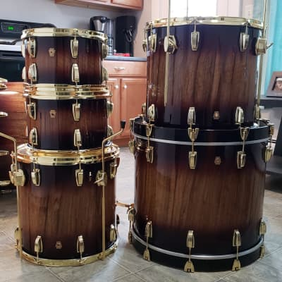 Ludwig Legacy Maple Exotic 5-Piece with Brass Hardware - 12/13/16/18/22