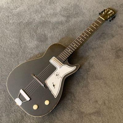 Alden Harmony Stratotone H45 1962 Black Sparkle for sale