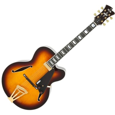 Fujigen Masterfield Archtop Hollow Body Electric Guitar MFA-FP Sunburst for sale