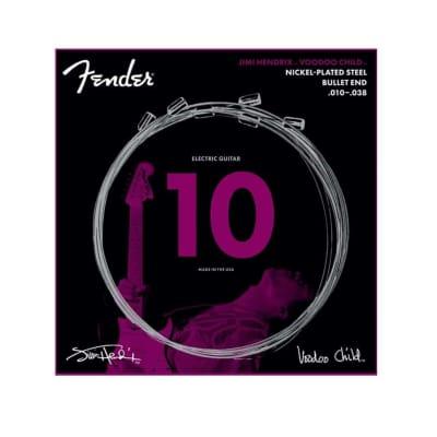 Fender Jimi Hendrix Voodoo Child Nickel-Plated Steel Bullet End Electric Guitar Strings (10-38)