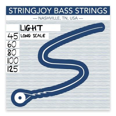 Stringjoy Light Gauge (45-125) 5 String Long Scale Nickel Wound Bass Guitar Strings