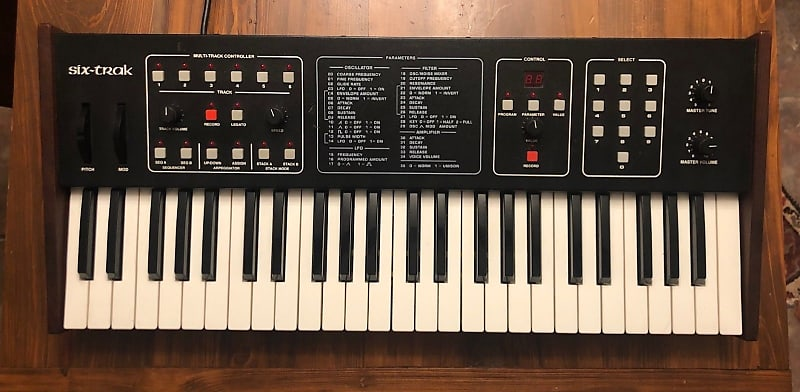Sequential Circuits Six Trak Polyphonic Synthesizer With