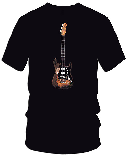 fender srv stratocaster guitar black t shirt 4xl reverb. Black Bedroom Furniture Sets. Home Design Ideas