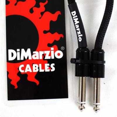 DiMarzio PC106BK Pedal Board Cable, 6 inches Straight/Straight, Black