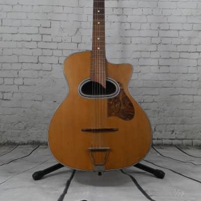Di Mauro Gypsy Guitar 'grande bouche' mahogany natural 1950's for sale