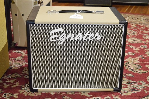 Egnater Rebel 112 Cabinet two tone blonde and black 1x12 cab | Reverb