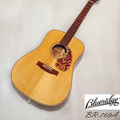 Blueridge BR-160A full Solid Adirondack spruce & Santos rosewood Dreadnaught Guitar Natural