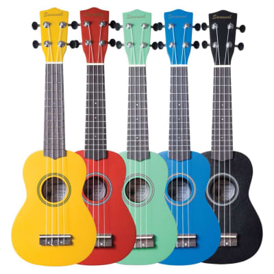 Savannah SU-ASST 10-Pack Soprano Ukuleles with Bag, Assorted Colors for sale
