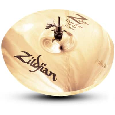 "Zildjian Z40131 13"" Z Custom Z3 Series Dyno Beat Bottom Hi Hat Extra Heavy Drumset Cast Bronze Cymbal with Bright Sound and Small Bell Size"