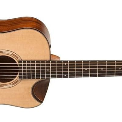 Washburn WCGM15SK Grand Auditorium Acoustic Guitar Comfort Beveled Solid Spruce Top Mahogany Back and Sides